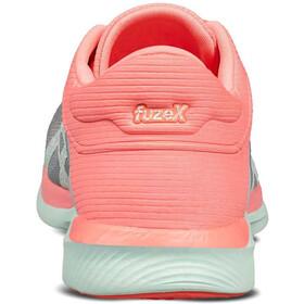 asics Fuzex Rush Zapatillas Mujer, midgrey/bay/flash coral